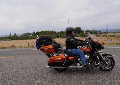 Mel and his Harley Davidson