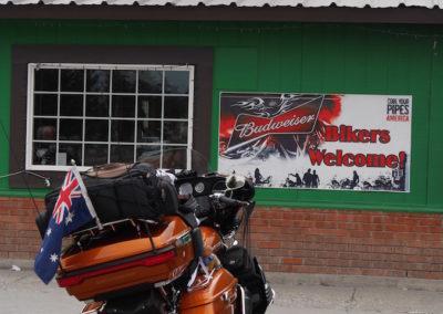 Harley Davidson visiting Pickle's Place