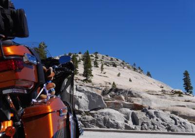 Kanga riding Tioga Pass