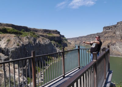 Mel at Evel Knievel's jump site