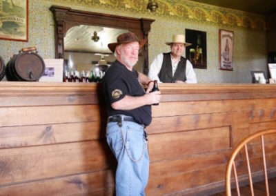 Mel at the bar Fort Laramie