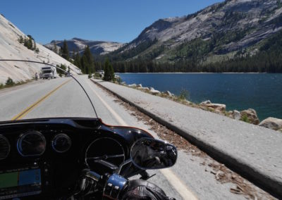 Motorbike riding Tioga Pass
